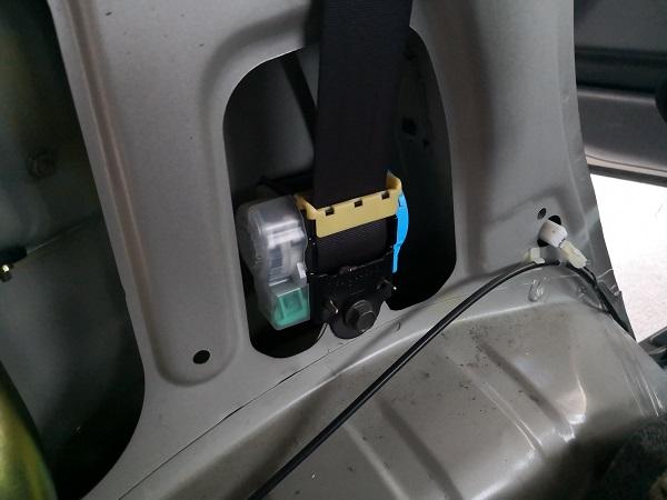 MC22S リアシートベルト 外し方