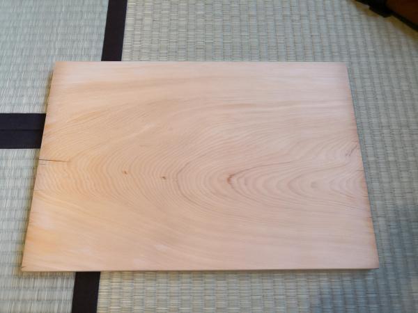 木製まな板 削り直し